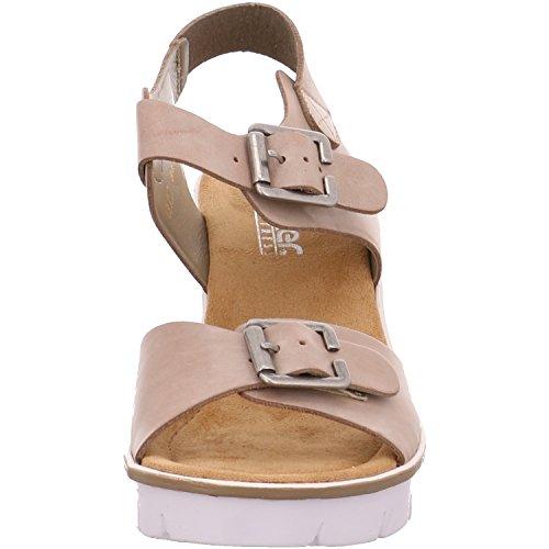 Rieker 68584-40 - Sandalias de vestir para mujer gris