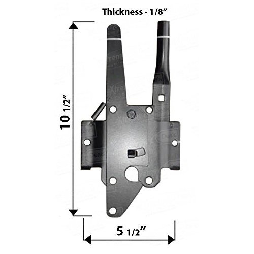 Nuvo Iron Black Deluxe Traditional Post Latch with Ultimate Handle DTPLUH