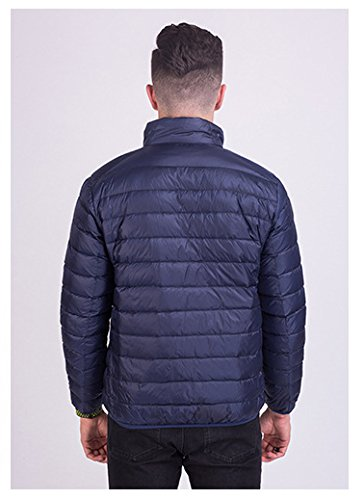 Water Men's Down Lightweight Outwear Jacket Coat Warmth Navy Padded Jacket Protection Resistant Packable rF8qtFw