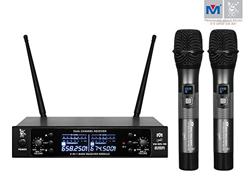 Better Music Builder VM-52U G5 Dual Channel UHF Wireless Microphone System by Better Music Builder