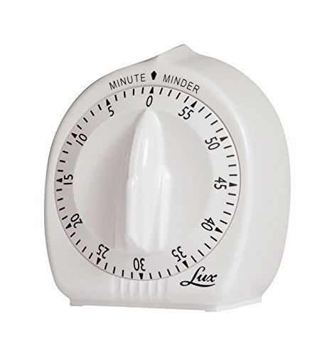 - LOX Lux Minute Minder Timer Mechanical White with Black Markings 60 Min