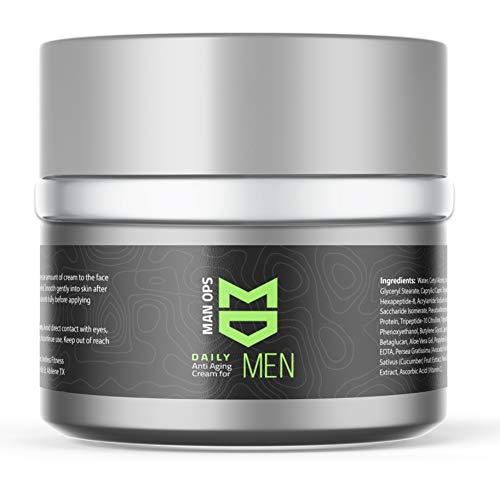 MAN OPS | Mens Revitalizing Anti Aging Skin care | Natural, Organic Anti Wrinkle Face Cream |