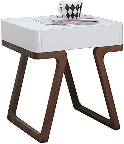Boodschappen Doen Creatieve plaid, moderne hoek, eenvoudig nachtkastje/bijzettafel, kleur walnoot (46 × 46 × 52 cm)  xEOcYdv