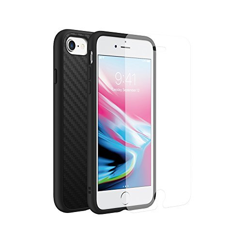 the best attitude 964f6 68cca RhinoShield Full Impact Protection Case for [ iPhone 8/7 ], Military Grade  Drop Protection, Slim, Scratch Resistant - Carbon Fiber Texture [Special ...