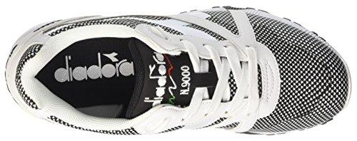 Diadora N9000 Arrowhead, Sneaker a Collo Basso Unisex-Adulto Bianco (Bianco Ottico/Nero)