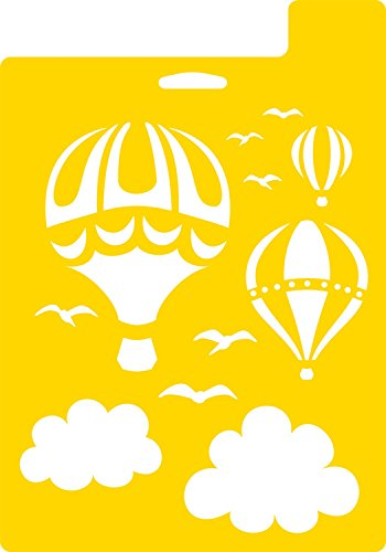 Delta Creative Stencil, 7 by 10-Inch, 971710710 Hot Air Balloons