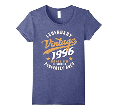 Womens Vintage 1996 22nd birthday gift 22 years old 22 yrs XL Heather Blue