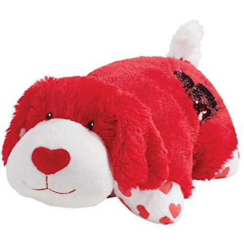 """Pillow Pets Valentine Red Pup 11"""" - Stuffed Animal Plush Toy"""