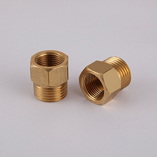 - LightInTheBox G1/2 Male Thread to US 3/8 NPT Female Thread Bathroom fixture Converter Adapter, Solid Brass Antique Bronze Finish
