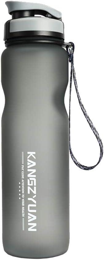 Botella Deportiva, Vaso De Plástico Reutilizable Portátil Con Boquilla De Succión Para Deportes Al Aire Libre Y Ejercicios Físicos,Gris