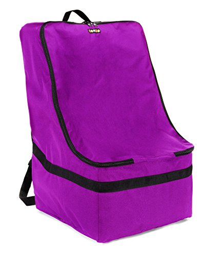 ZOHZO Car Seat Travel Bag — Adjustable, Padded Backpack for Car Seats — Car Seat Travel Tote — Save Money, Make Traveling Easier — Compatible with Most Name Brand Car Seats (Purple with Black Trim) by Zohzo (Image #2)