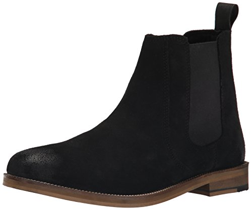 Crevo Men's Denham Chelsea Boot, Black Suede, 11 M US (Man Boots For Sale)