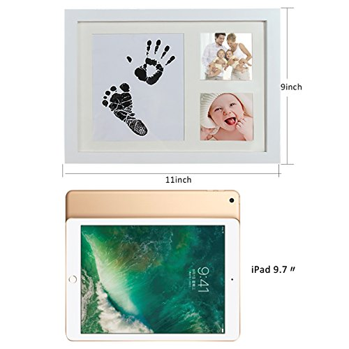 Baby Handprint and Footprint Photo Frame Kit by TopSuccess Without Ink-Touch,Safe and Non-Toxic Ink Print Kit for Baby Babyprints Inkpad Best for Newborn Baby Gifts GM10 (Black) by TopSuccess (Image #3)