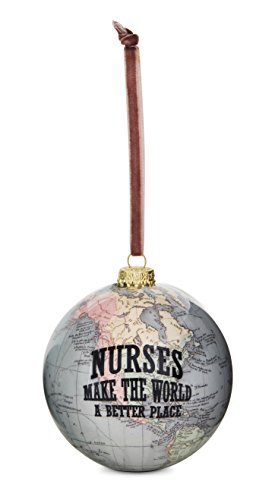 Pavilion Gift Company 61015 Nurse Globe Ornament 33/4quot
