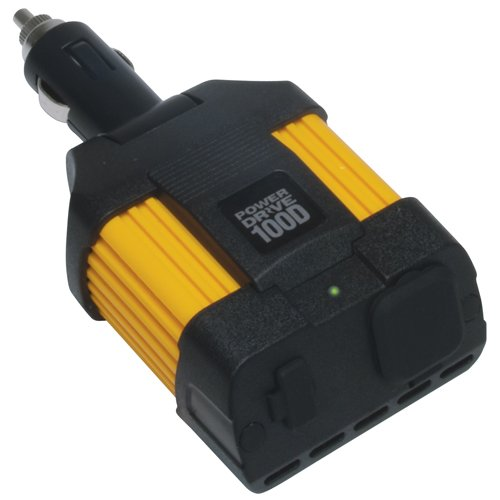 Power 175w Inverter (PowerDrive RPPD100D 100-Watt DC to AC Power Inverter with USB Port and Direct 12V Plug)