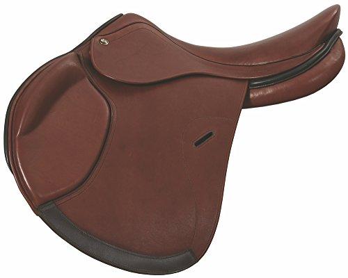Henri de Rivel Minimus Covered Close Contact English Saddle | Horse Riding Equestrian Saddle - Oak Bark Smooth - 18 Regular