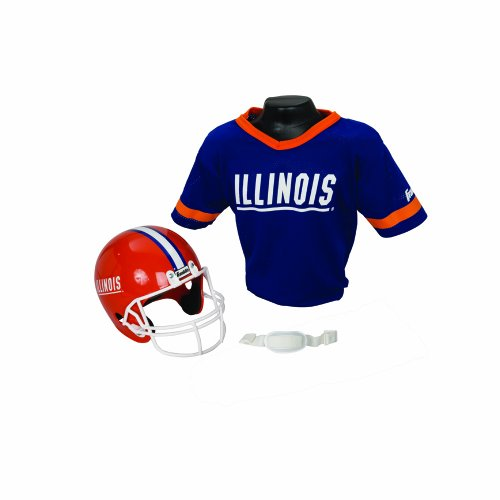 Franklin Sports NCAA Illinois Fighting Illini Helmet and Jersey Set (Football Franklin Youth Set Uniform)