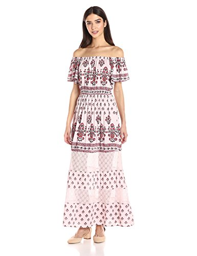 2a4dcf3793d Taylor and Sage Women s Printed Off The Shoulder Maxi Dress