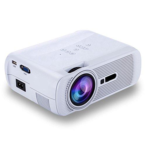 iRULU 1200 lumens Mini LED Beamer,Tragbar Projektor, 800 * 480, Unterstützung 1080p für Full HD Heimkino Theater, 130