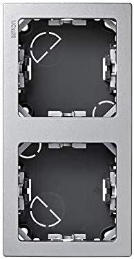 Simon 73621-63 Marco 2 Elementos Vertical Aluminio