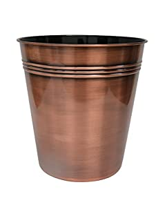 Merveilleux BathSense CM1391 Copper Bathroom Wastebasket U0026 Trash Can Refuse Disposal Bin,  Copper