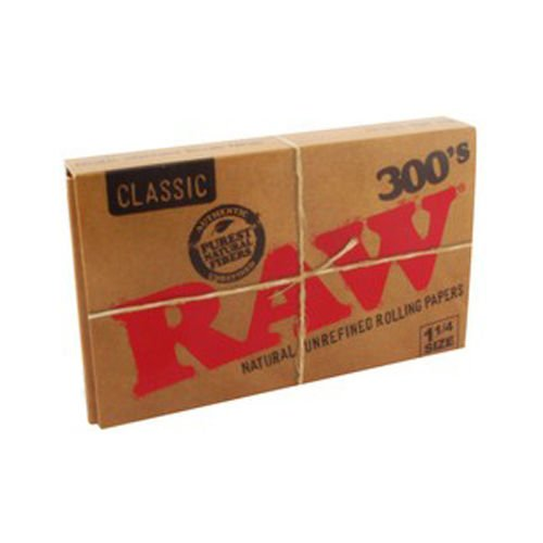 Raw-300-Classic-125-1-14-Size-Rolling-Papers-1-Pack-300-Leaves
