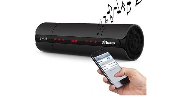 Bluetooth portátil altavoz inalámbrico NFC FM HIFI estéreo altavoces SUPER BASS Caixa se som caja de sonido para teléfono MP3, radio, reproductor de audio portátil, teléfono móvil, ordenador: Amazon.es: Electrónica