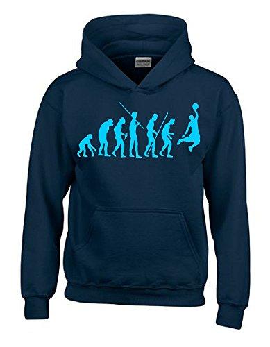 BASKETBALL Evolution Kinder Sweatshirt mit Kapuze HOODIE navy-sky, Gr.164cm