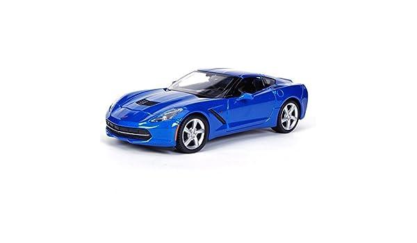 Maisto 2014 Chevrolet Corvette C7 Stingray Coupe 1:24 Diecast 34505 Metalic Blue