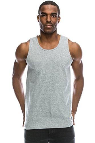 1c7f2eebf86ca Galleon - JC DISTRO Mens Hipster Hip Hop Basic Jersey Solid HGREY Tank Top  XL
