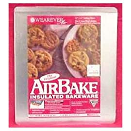 Airbake Ultra by T-fal Insulated Mega Cookie Sheet Dishwasher Safe Bakeware, Silver 48 100% aluminum construction. No more burning...Guaranteed! Guaranteed not to rust.