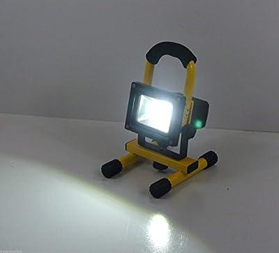 TruePower 30-3002 Portable 10W COB Type Super Bright LED Work Light Rechargeable Li-Ion Flood Light Lamp, Yellow