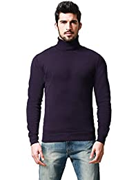 Match Mens Casual Basic Knitted Turtleneck Slim Fit Pullover Thermal Sweaters