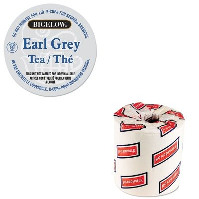 KITBWK6180GMT6082 - Value Kit - Bigelow Earl Grey Tea K-Cup Pack (GMT6082) and White 2-Ply Toilet Tissue, 4.5quot; x 3quot; Sheet Size (Bigelow White Tea Tea)
