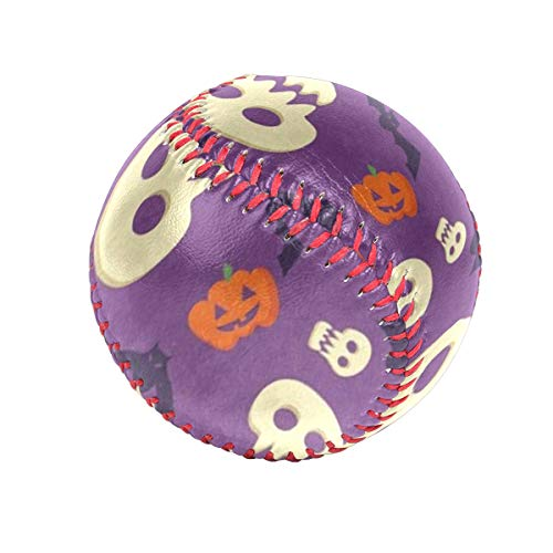 Halloween Pumpkin Face Bat Personalized Low Impact Safety Tee Balls Indoor Baseball or Outdoor Baseballs for League Play, Practice, Competitions, Gifts, Keepsakes, Arts and Craftsophies, and -