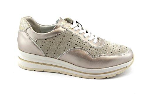 Grunland Cedo Scarpe Sneacker Sc3780 Laccio Beige Donna UUrxdOwFq