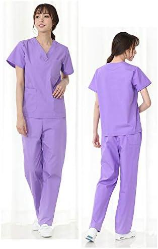 Amazon Com Scrubs Conjunto De Ropa De Lactancia Para Hospital Ropa De Trabajo De Enfermeria Para Mujer Uniformes Medicos Delgados Antiarrugas Cuello En V Y Pantalones Con 3 Bolsillos Xl Home