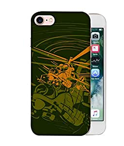 ColorKing Apple iPhone 8 Case Shell Cover - Chopper Multi Color