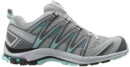 Salomon Damen Xa Pro 3d W Traillaufschuhe Grau / Turquoise (steengroeve / Pearl Blauw / Aruba Blauw)