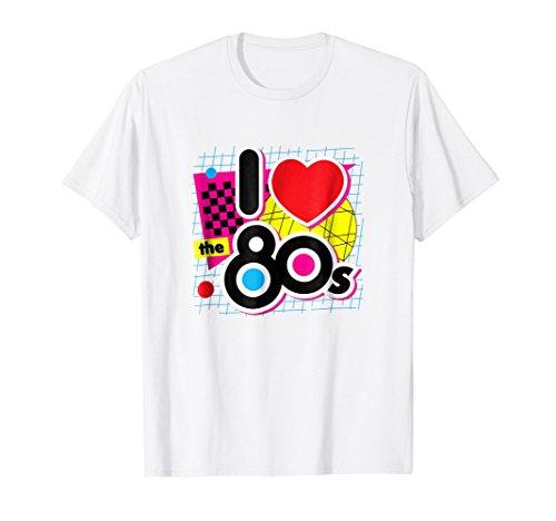 I love the 80s Shirt Retro Eighties Heart Graphic ()