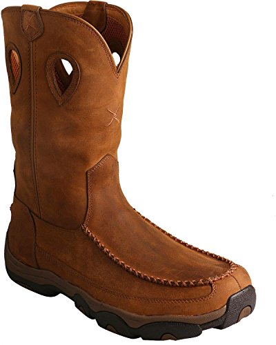 Brown W X Men Mocs Waterproof Casual MHKB002 Boots 11 Twisted D Hiker Swnvzzqd