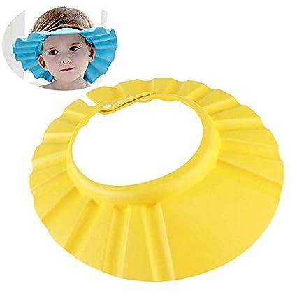 Baby Badekappe Bade Schutz Kopf Dusche Wasser Abdeckung einstellbar f/ür 0-9 Jahre Kids f/ür Babypflege 1 Pack, blau