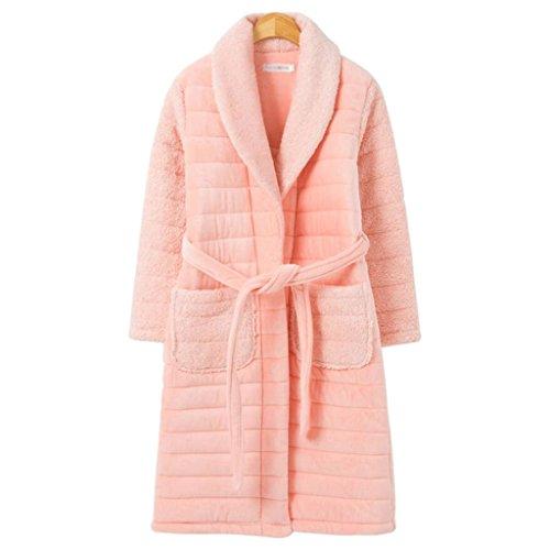 ZLR Autunno e inverno più cotone caldo Lady Camicia da notte a 3 strati Ispessimento Home Abbigliamento Accappatoio ( dimensioni : XXL )