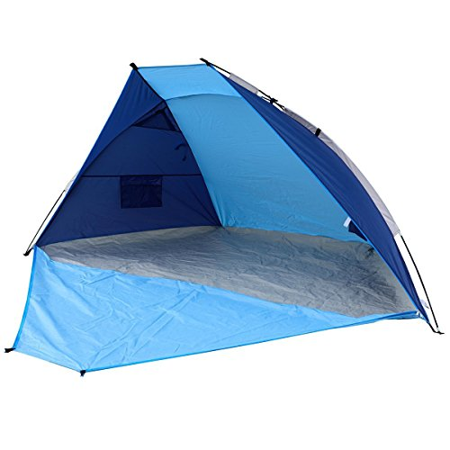 Timber Ridge Beach Tent Sun Shelter Easy Setup Outdoors Quick Cabana with Carry Bag, 2-3 Person, Blue