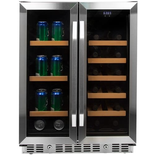 EdgeStar 24 Inch Built-In Wine and Beverage Cooler with French Doors