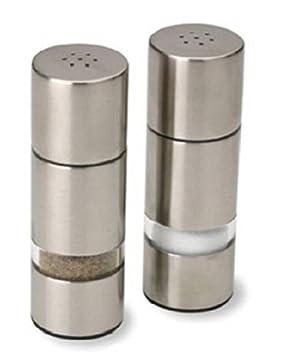 Olde Thompson Salt & Pepper Shaker Set Euro Style