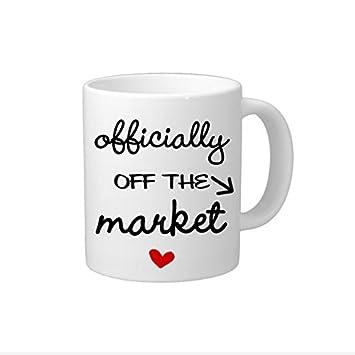 Funny Kaffee Becher mit Sprüche Verlobungsring Geschenk Tasse