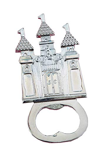 108 Fashioncraft Castle Themed Silver Metal Bottle Opener Wedding Anniversary Bridal Shower Baby Shower Birthday Party Souvenir Favors