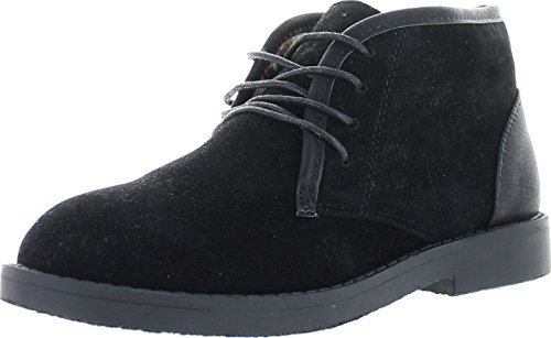 Bella Marie Marcy-11 Women's Soft Lace Up Chukka Boots,Black,5.5