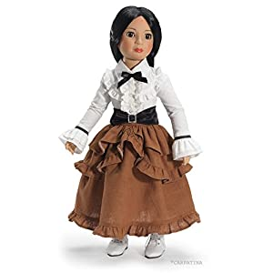 CARPATINA Camden Station Steampunk Outfit and Shoes For Slim Carpatina or Kidz n Cats 18″ Dolls